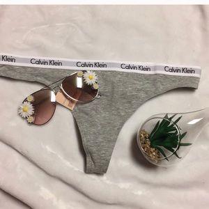 CK Calvin Klein grey thong panty underwear